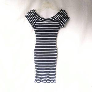 Horizontal Striped bodycon dress